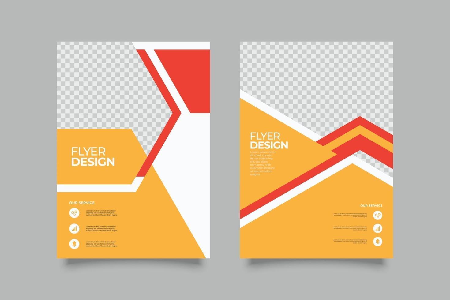 modello di volantino arancione webinar con forme vettore
