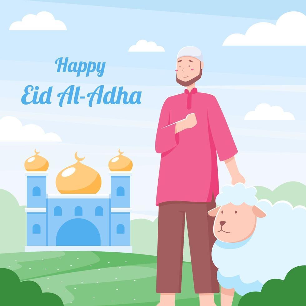 felice celebrazione di eid al adha vettore