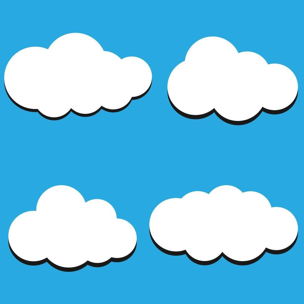 illustrazione vettoriale di sfondo di raccolta nuvole. simboli nuvola per l'interfaccia utente del logo di progettazione del tuo sito web