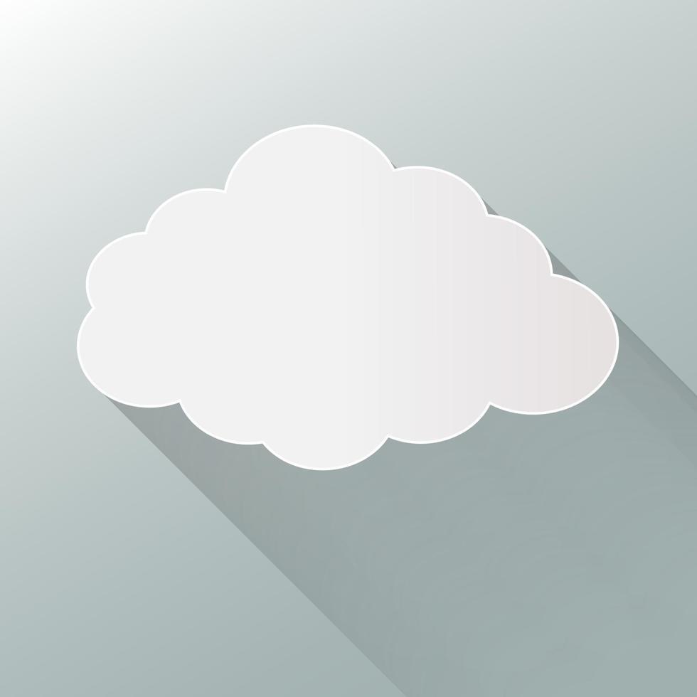 icona a forma di nuvola isolato su priorità bassa. nuvola piatta. vettore