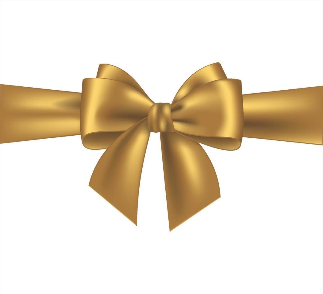 nastro dorato isolato su sfondo bianco vettore