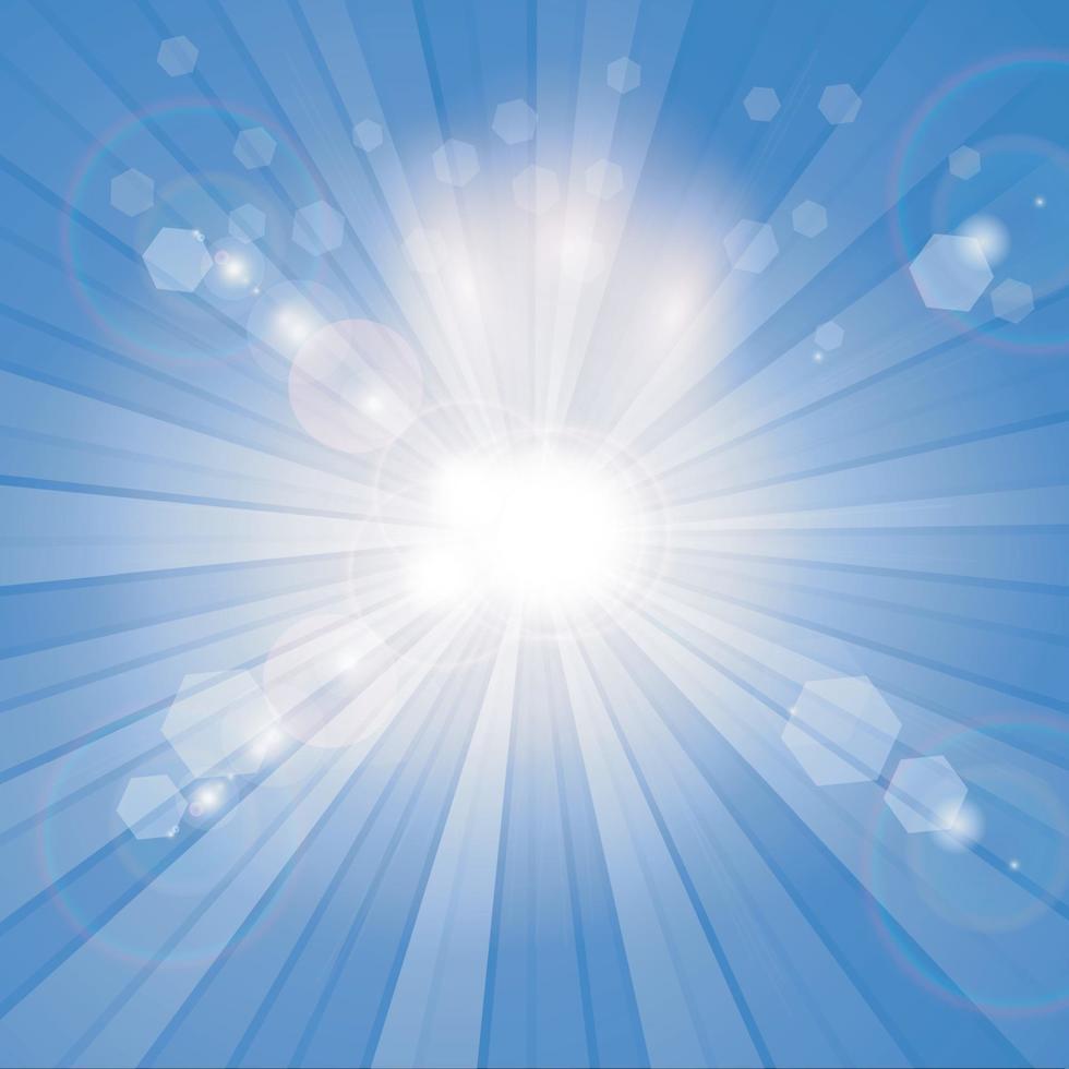 sfondo raggera blu e bianco, vettore
