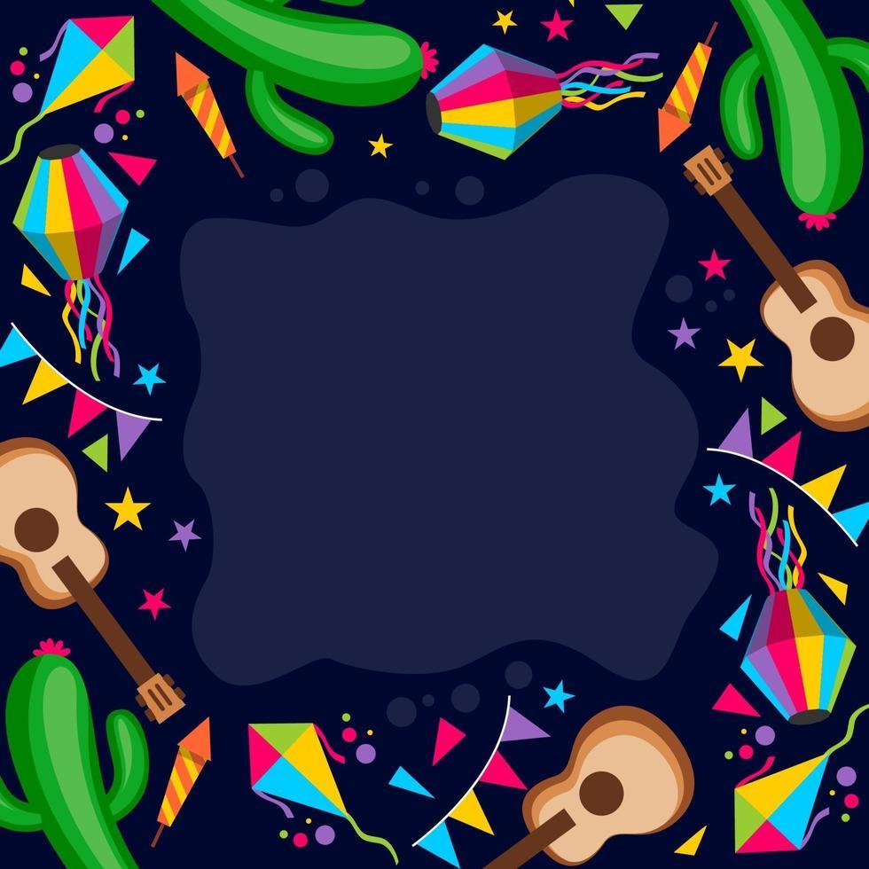 festa junina disegno di sfondo del partito vettore