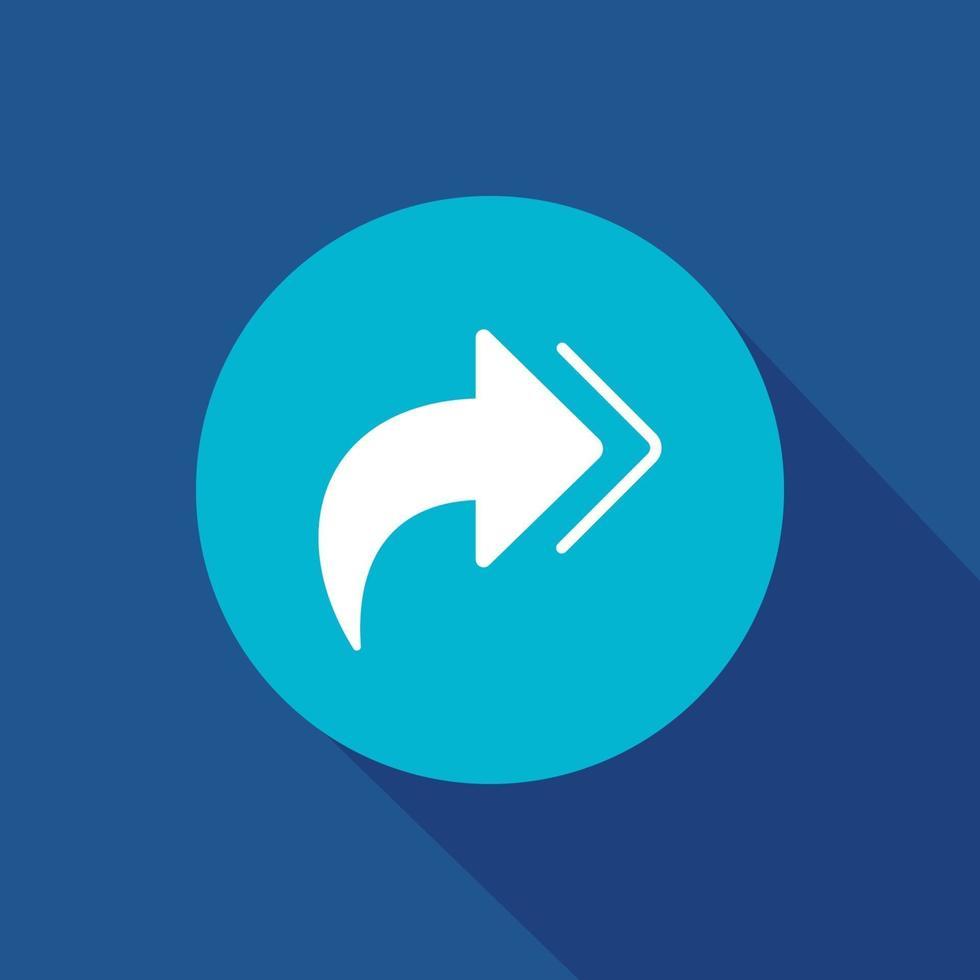 prossima icona piatto vettoriale. freccia, illustrazione vettoriale simbolo di direzione per il web e il vettore di app mobile.