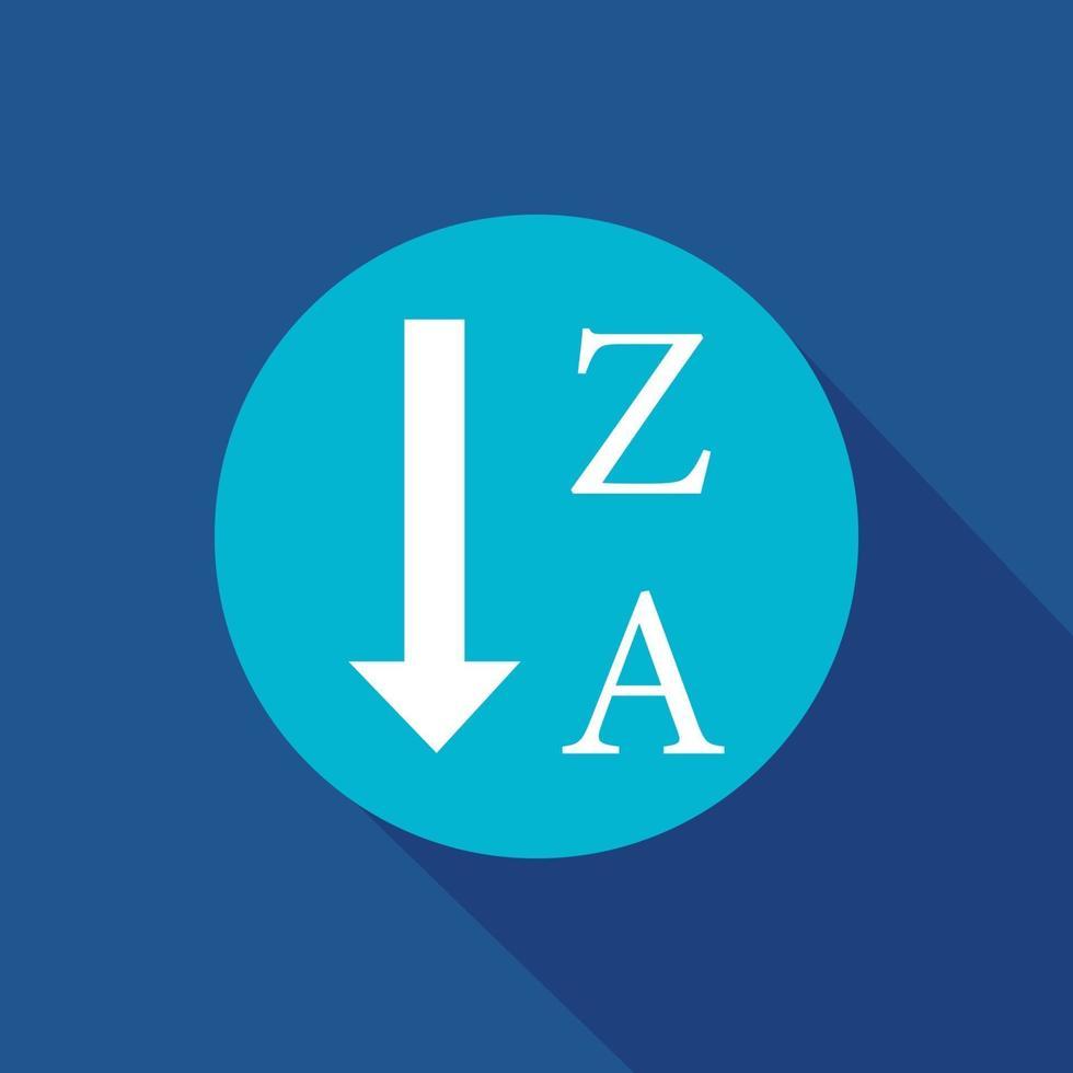 ordina per simbolo dell'icona di vettore alfabetico