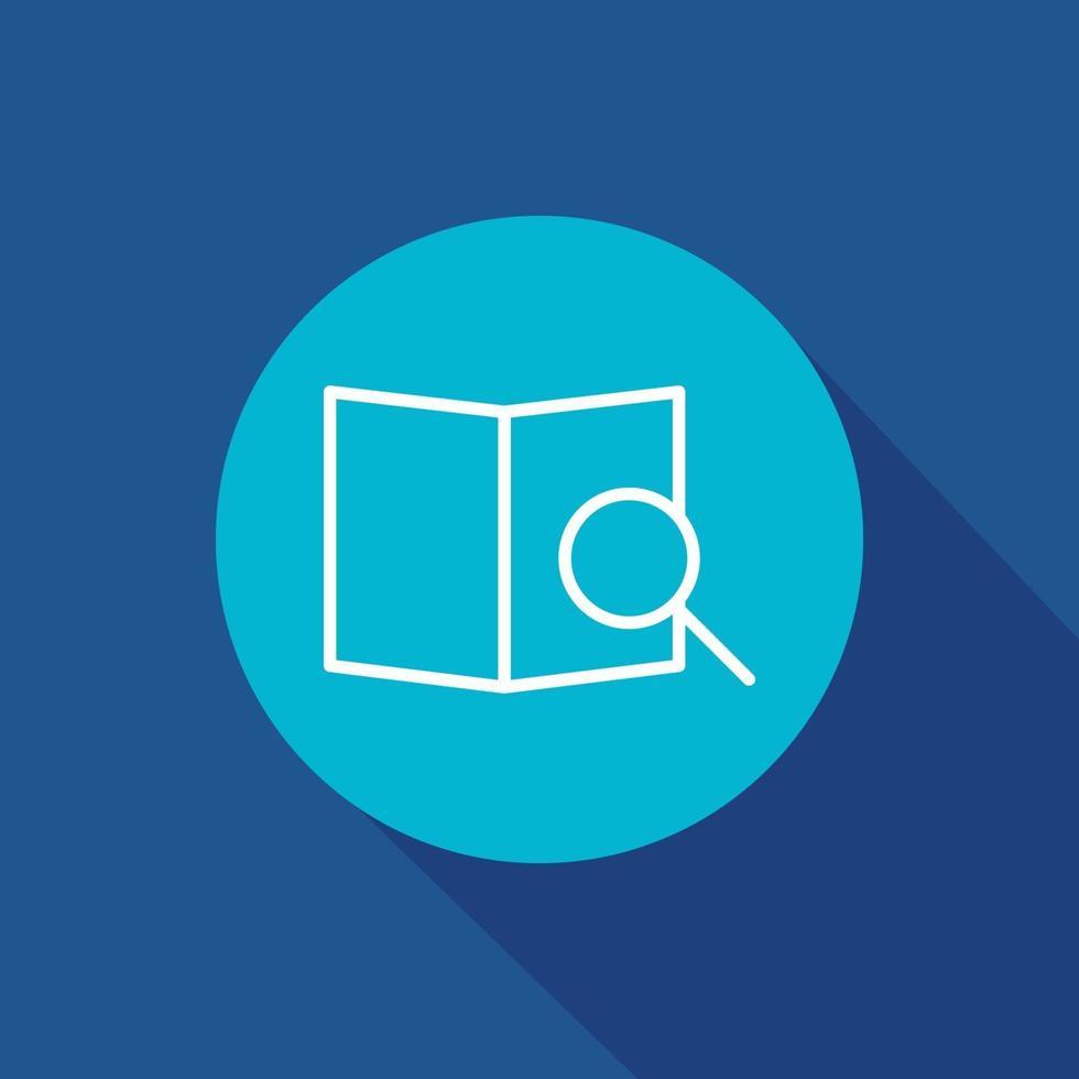illustrazione vettoriale del simbolo dell'icona di ricerca