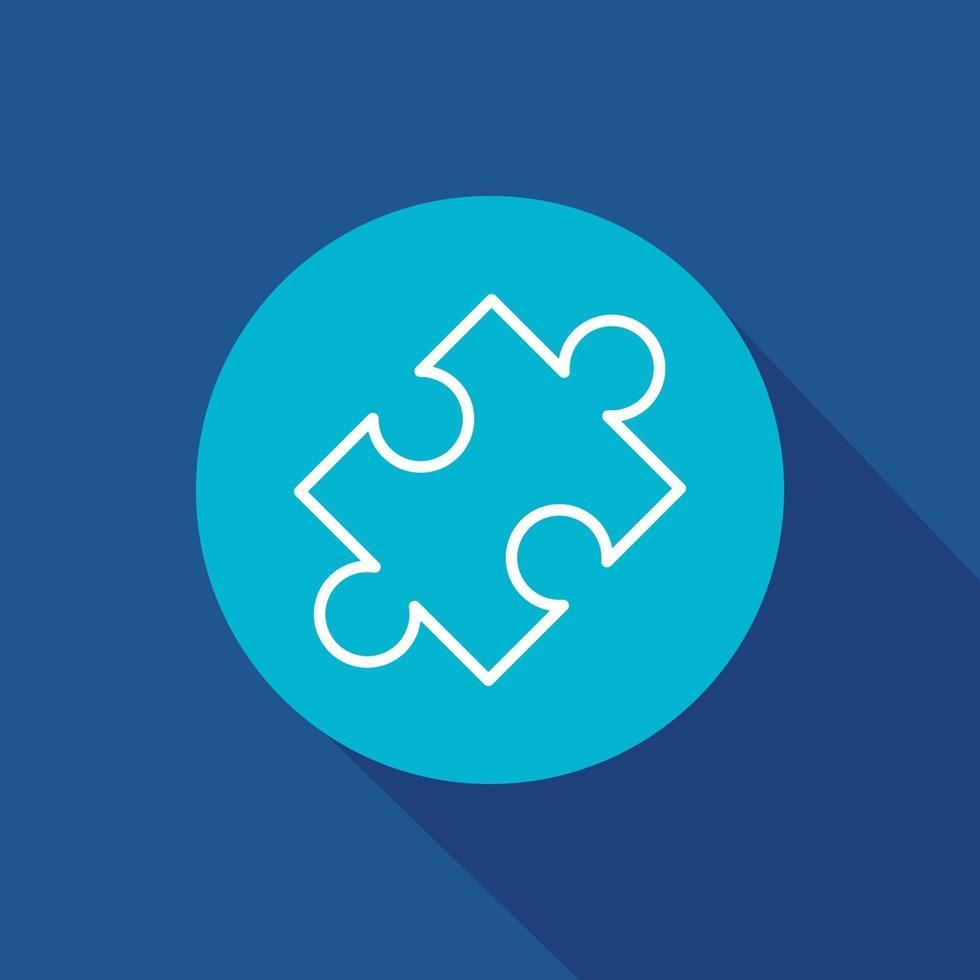 illustrazione vettoriale di puzzle icona simbolo