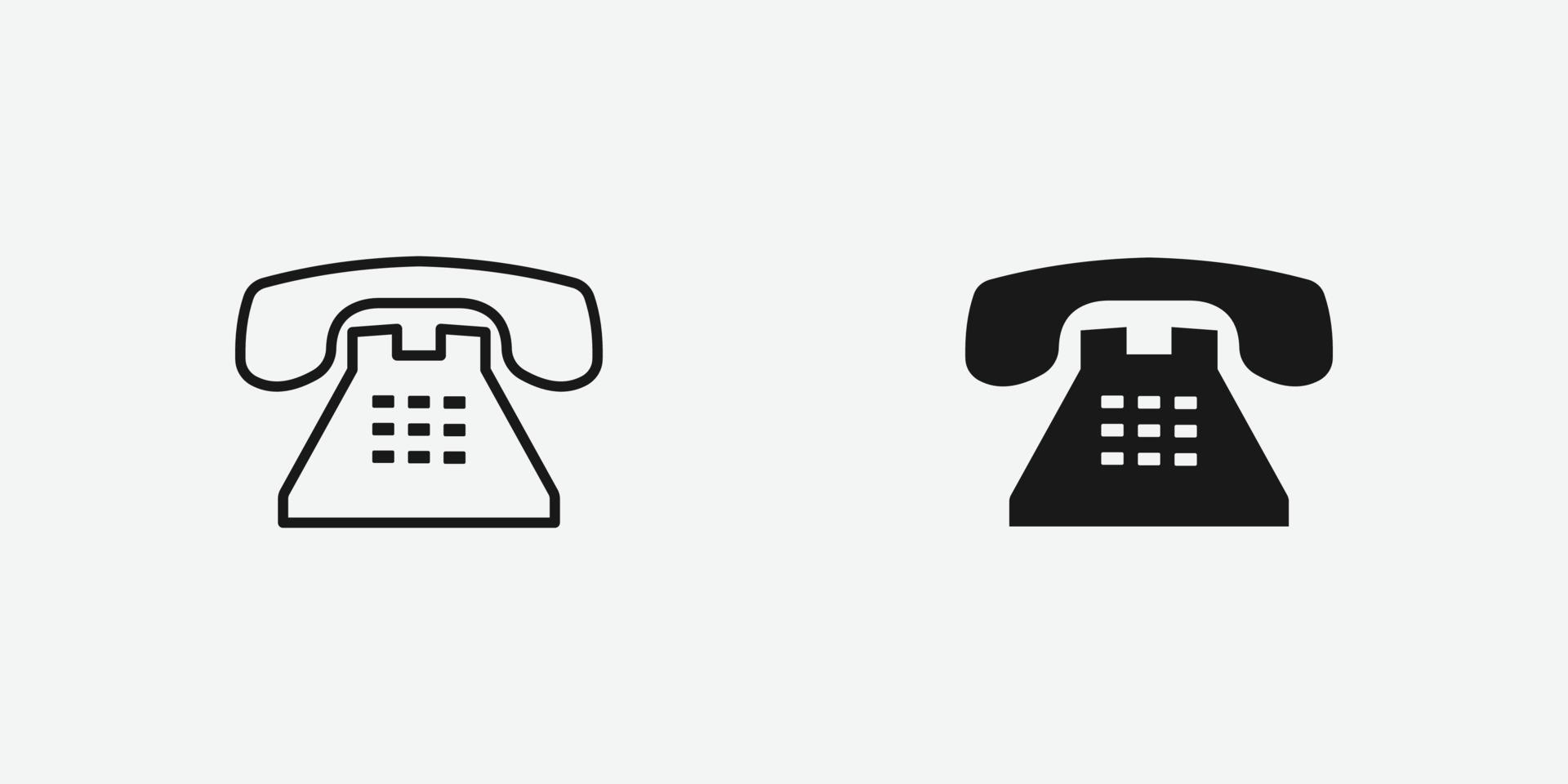 icona di vettore del telefono ufficio. affari, telefono, comunicazione, simbolo di chiamata isolato.