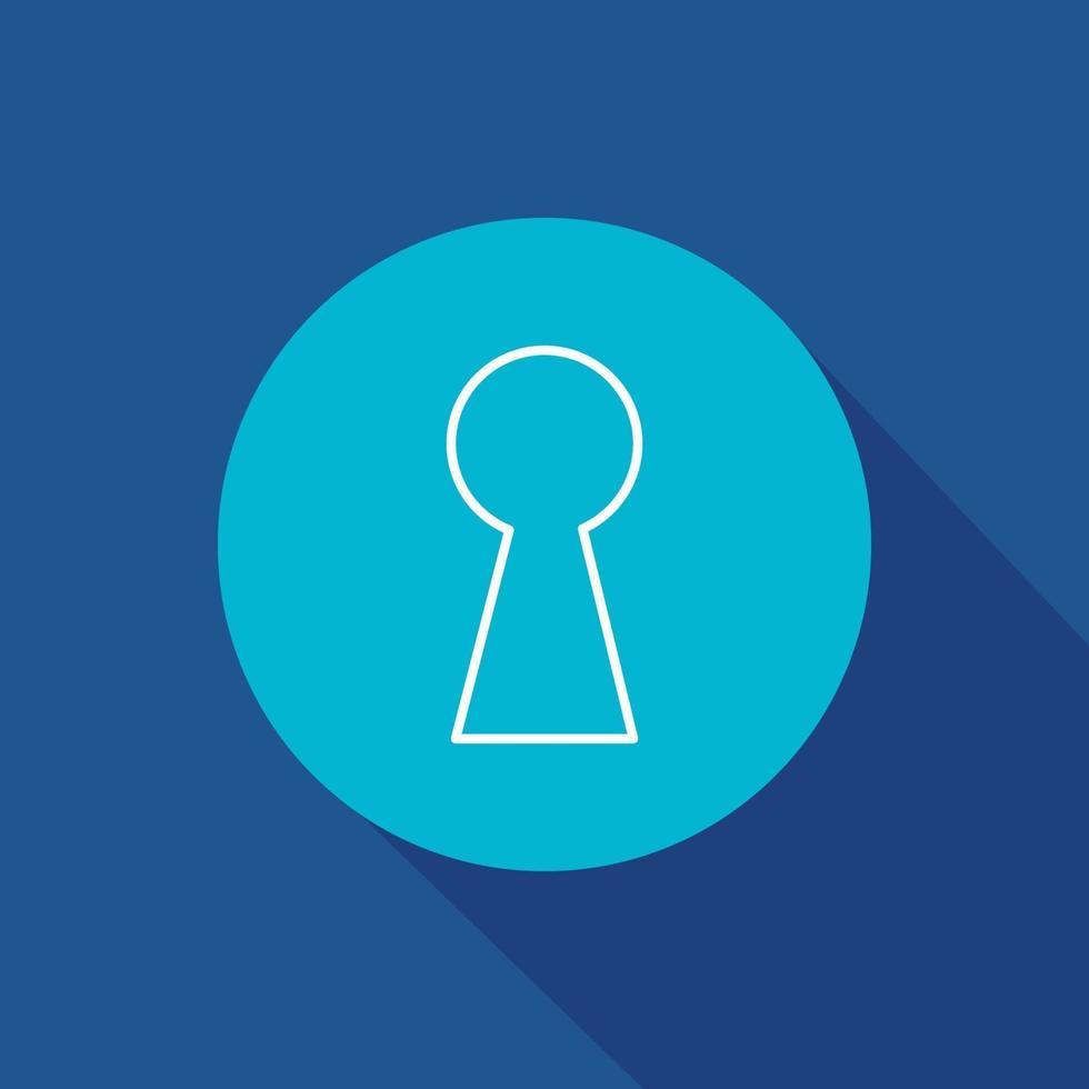 simbolo dell'icona di vettore del buco della serratura per sito Web e app mobile
