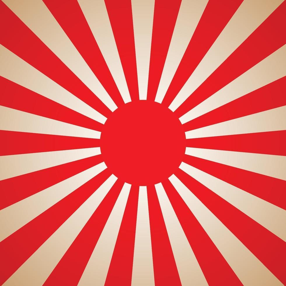 sfondo rosso sole giappone. illustrazione vettoriale