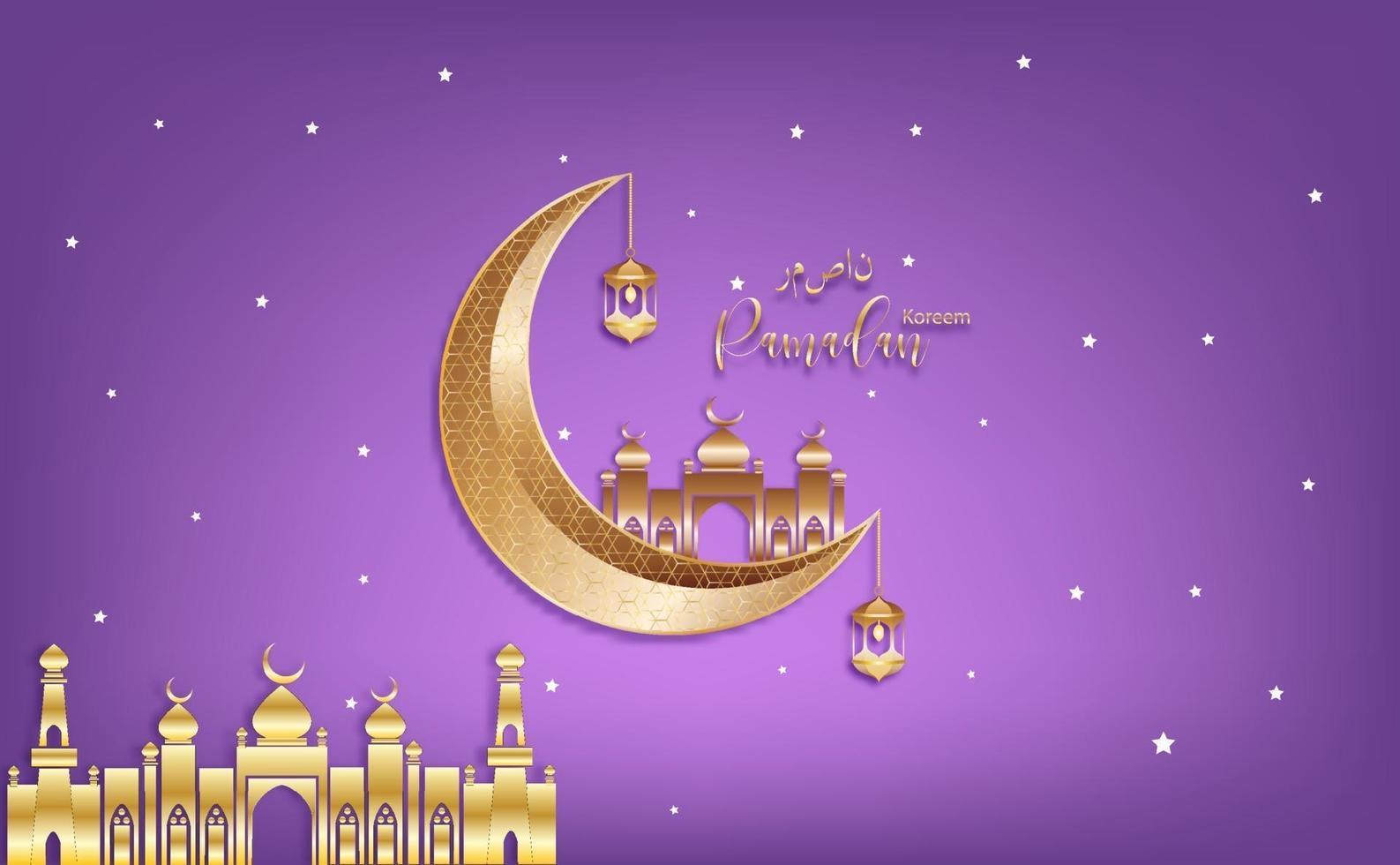 eid mubarak saluto ramadan kareen vettore che desidera per il festival islamico per banner, poster, sfondo