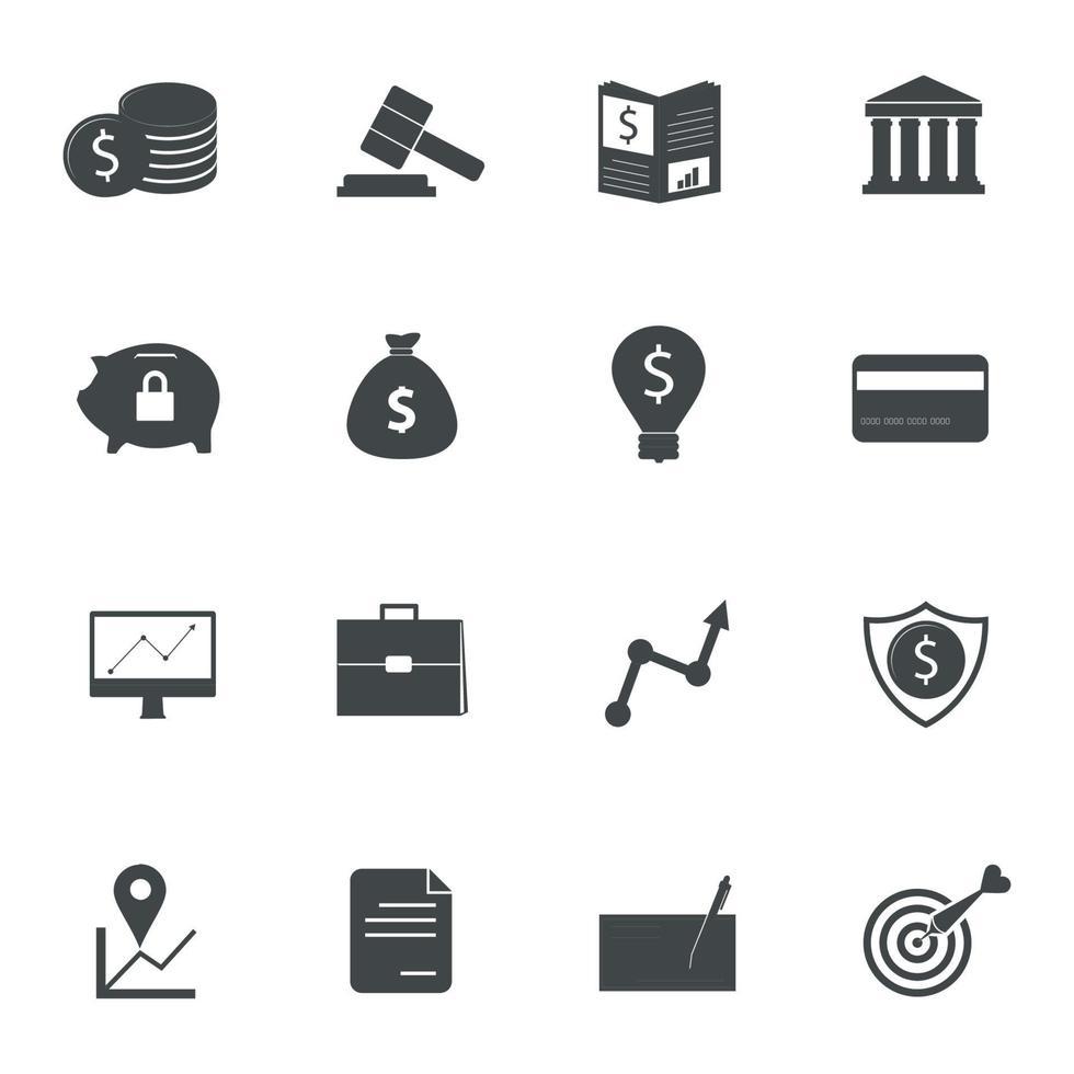 icone di banca. illustrazione vettoriale