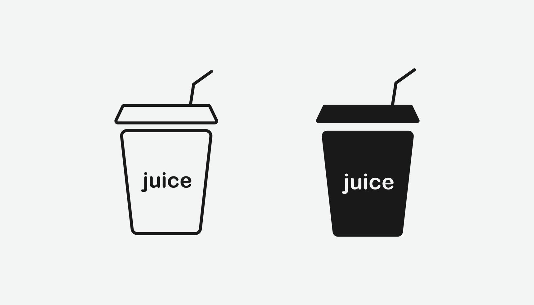 simbolo dell'icona di vettore di succo per sito Web e app mobile