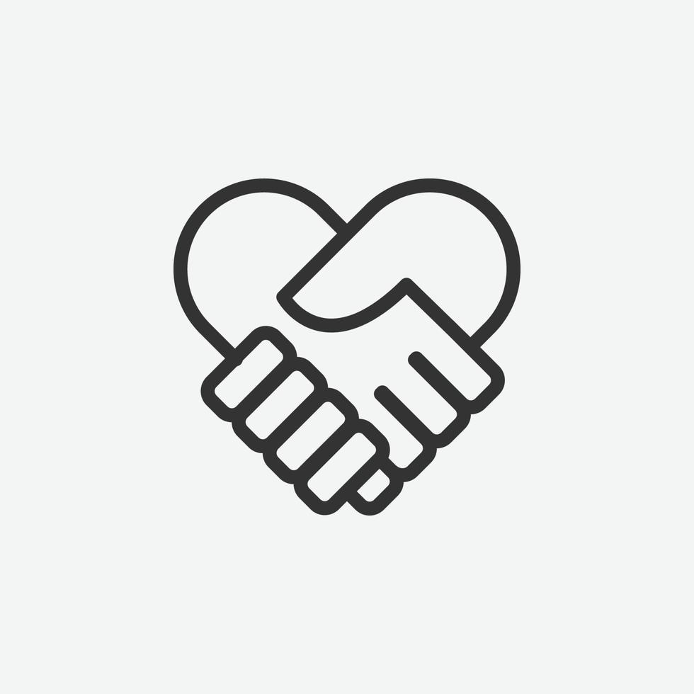 icona isolata di vettore della stretta di mano per il sito Web e l'applicazione mobile