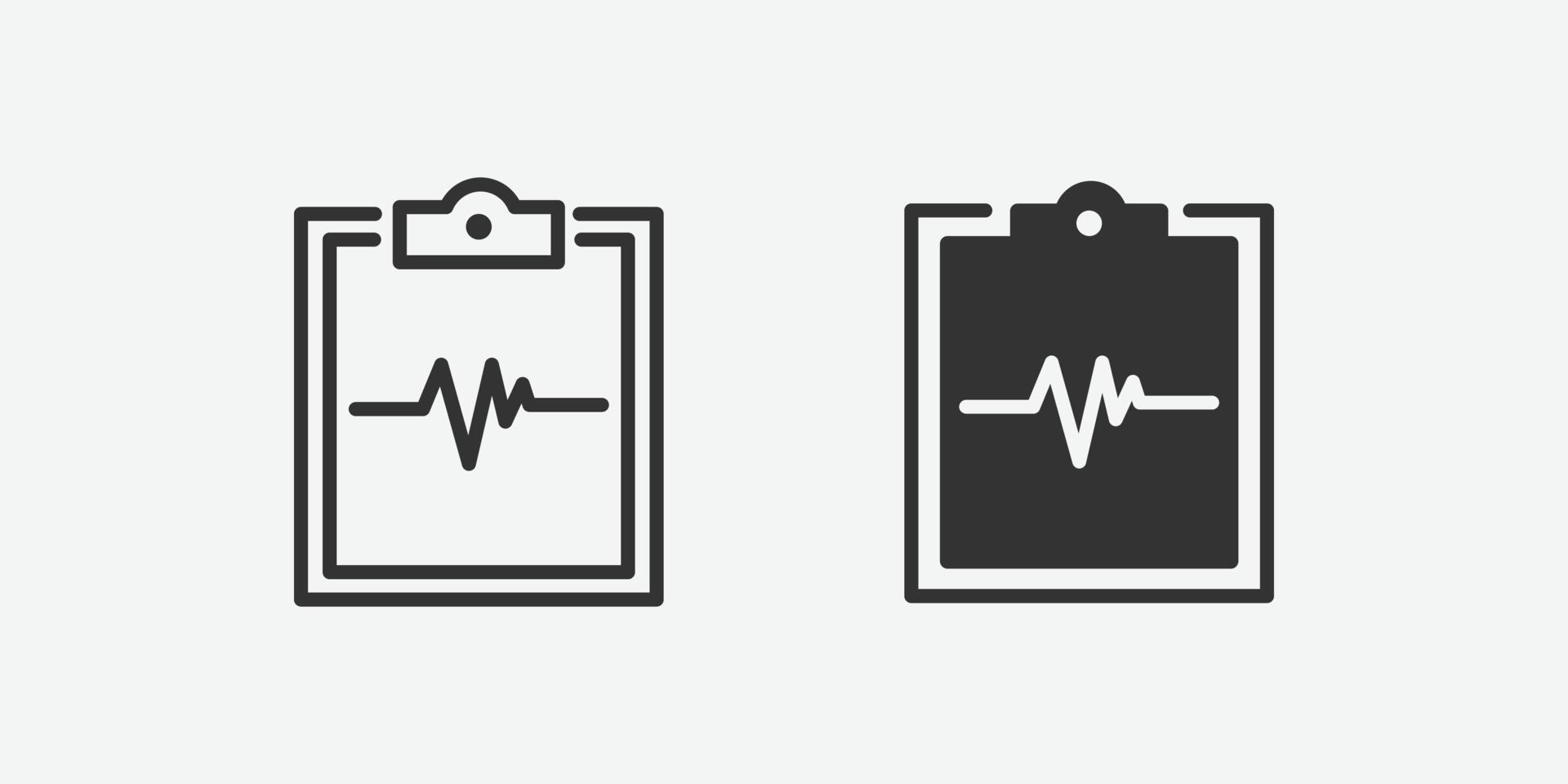 icona di vettore isolato blocco note di medicina