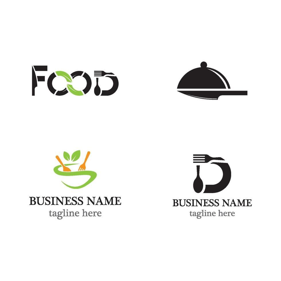 set di icone di cibo logo modello vettore