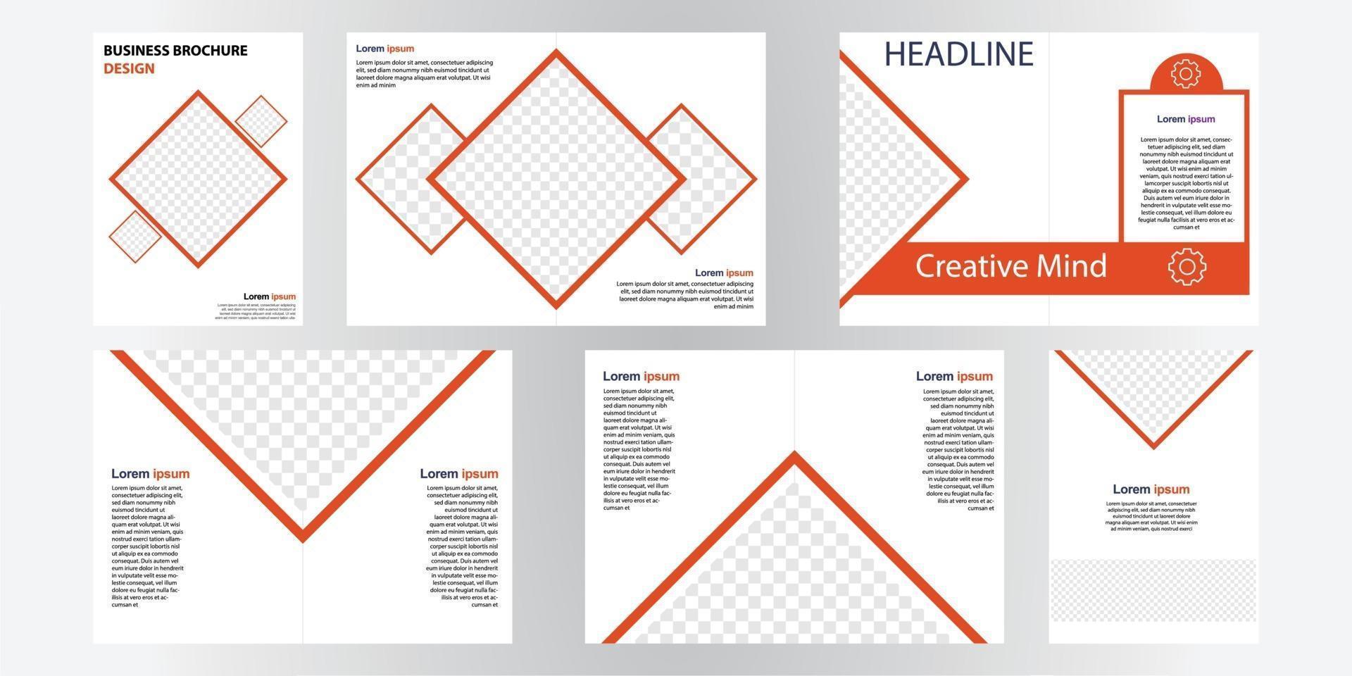 modello di progettazione brochure aziendale. perfetto per brochure, promozioni di marketing, presentazioni, ecc vettore