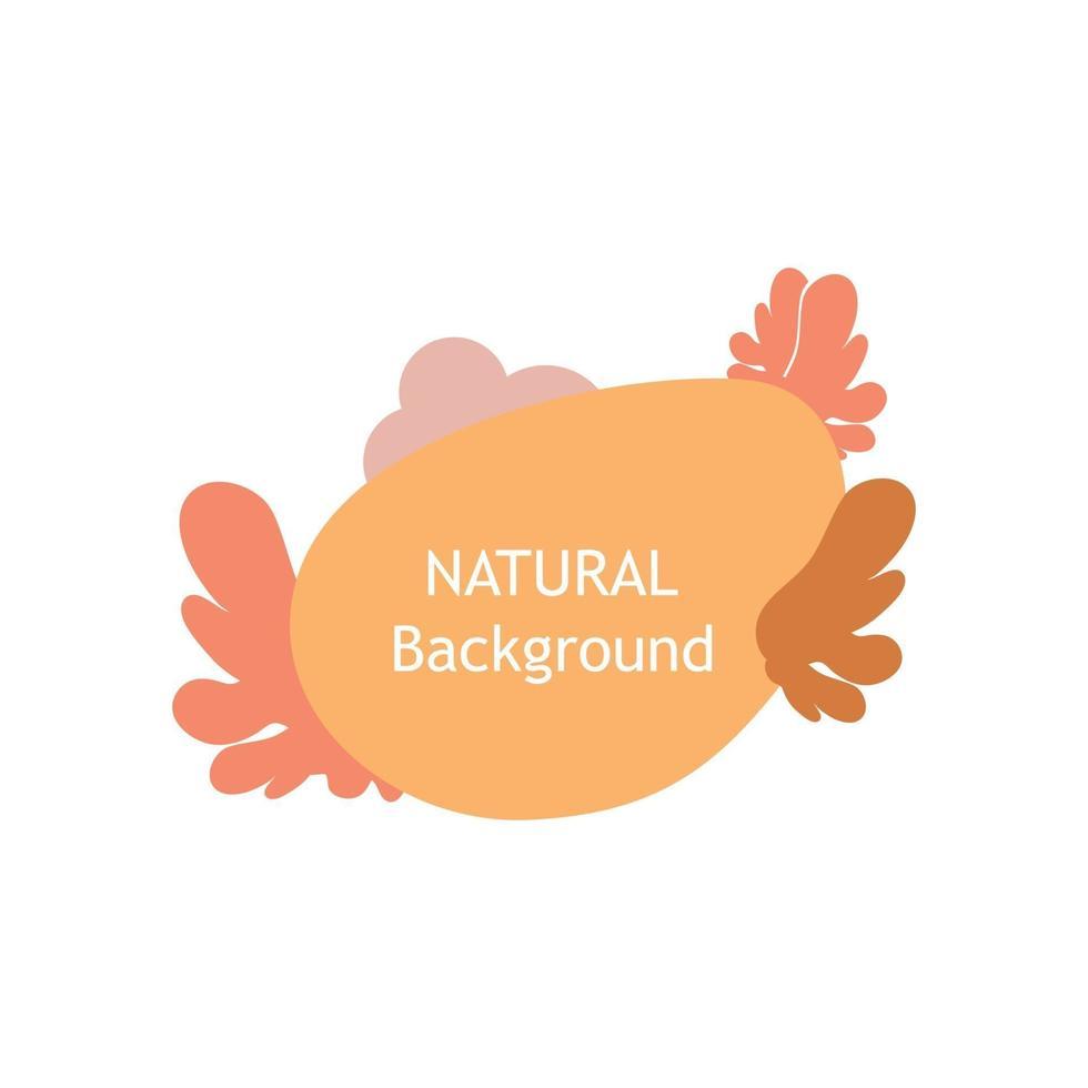 illustrazione naturale decorativa. perfetto per progetti di design, sfondo, post sui social media, banner vettore