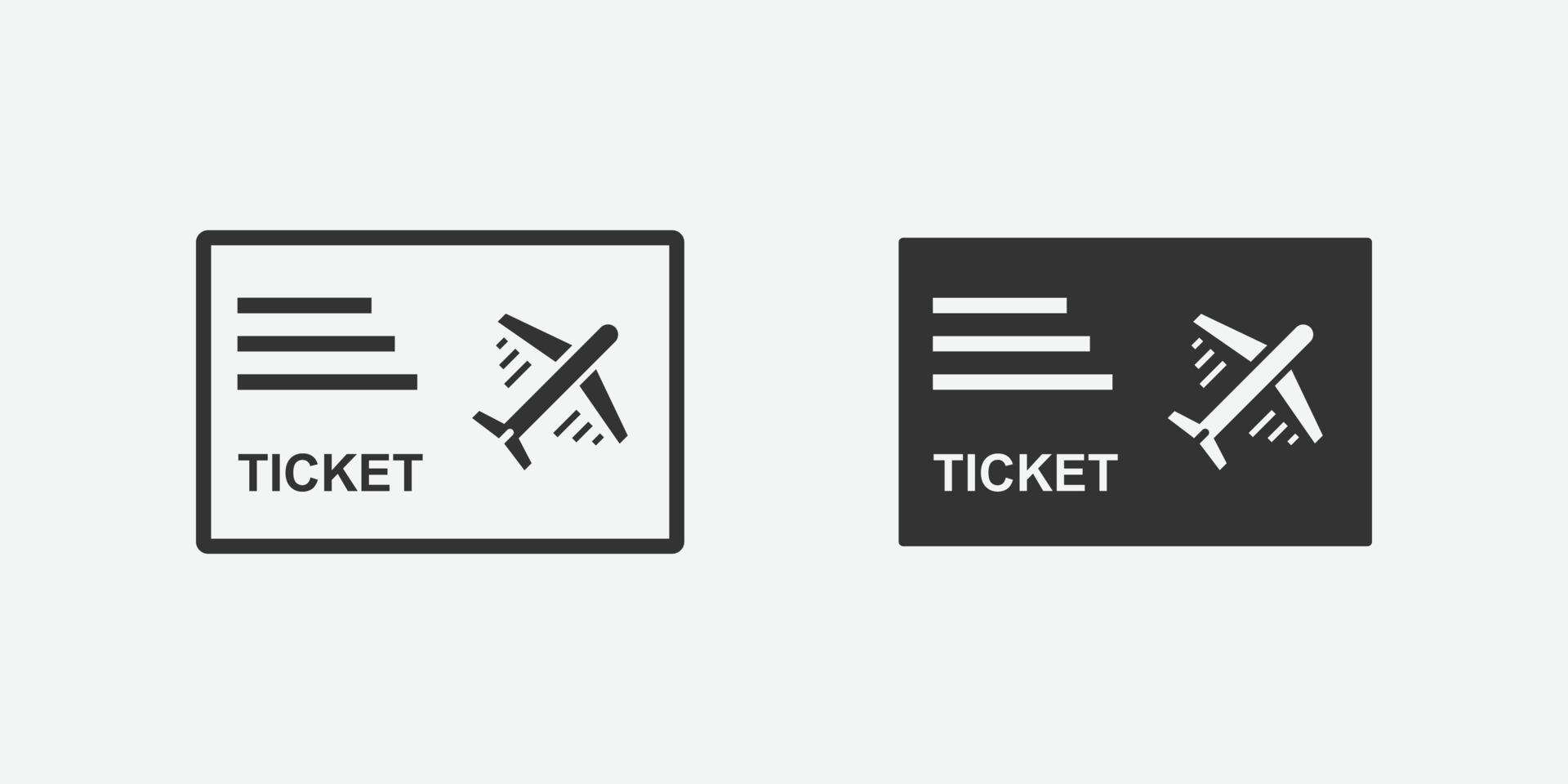 icona di vettore isolato biglietto aereo