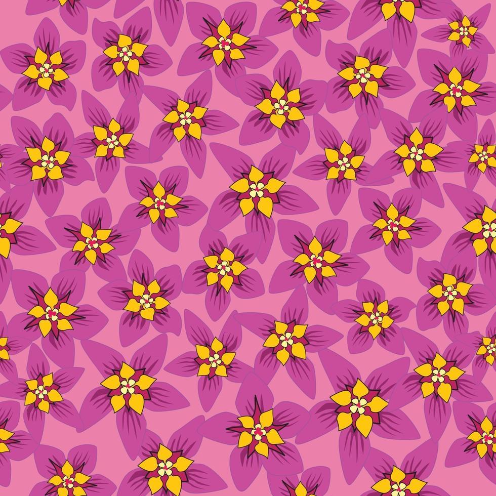 motivo floreale senza soluzione di continuità. sfondo di fiori. trama floreale senza soluzione di continuità con i fiori. fiorire la carta da parati piastrellata vettore