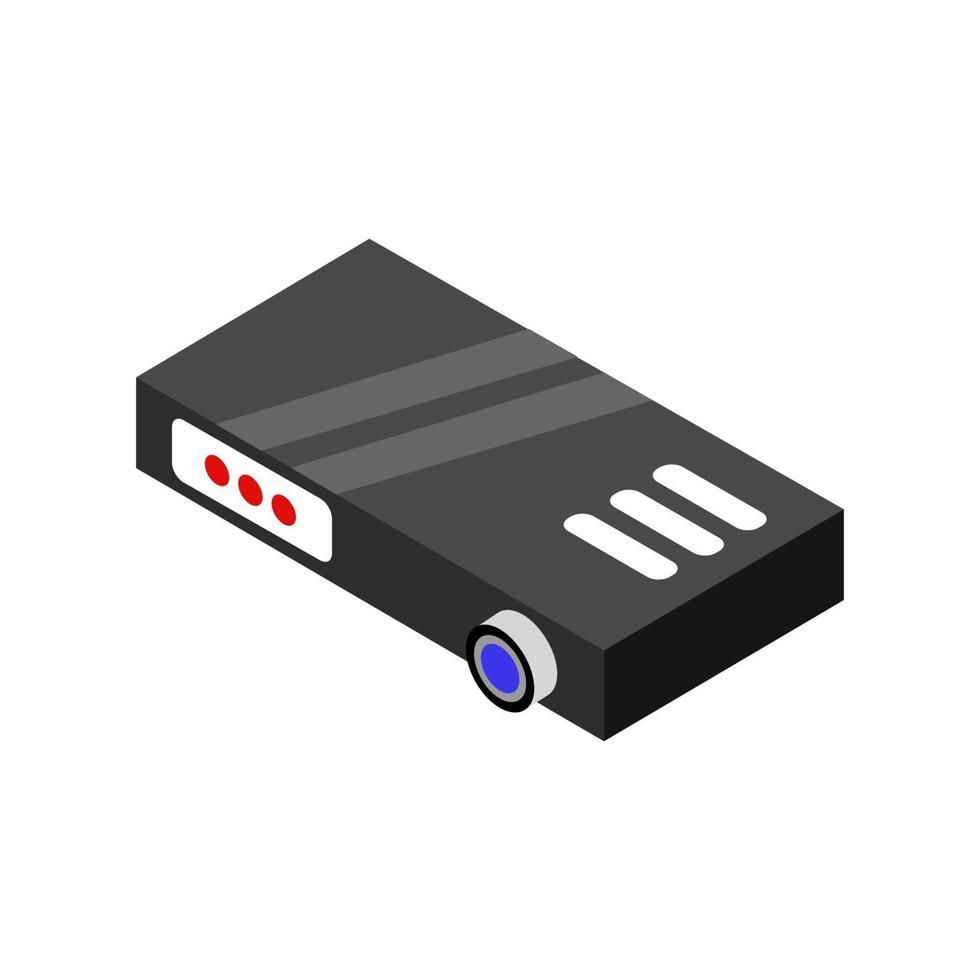 icona del proiettore sullo sfondo vettore