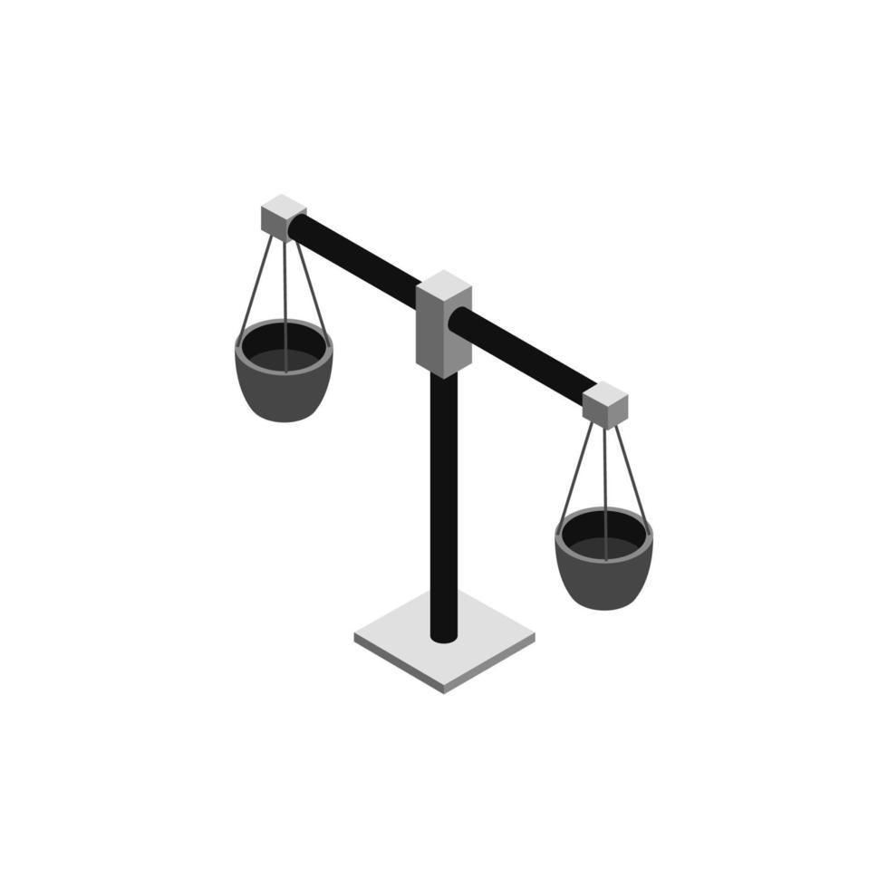 icona della bilancia sullo sfondo vettore