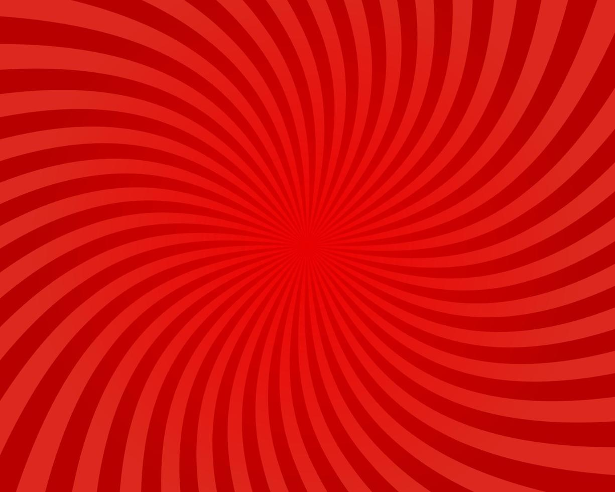 sfondo astratto di luce solare. sfondo di burst di colore rosso. illustrazione vettoriale. carta da parati del modello dello sprazzo di sole del raggio del raggio di sole. sfondo circo retrò. poster o cartello vintage vettore