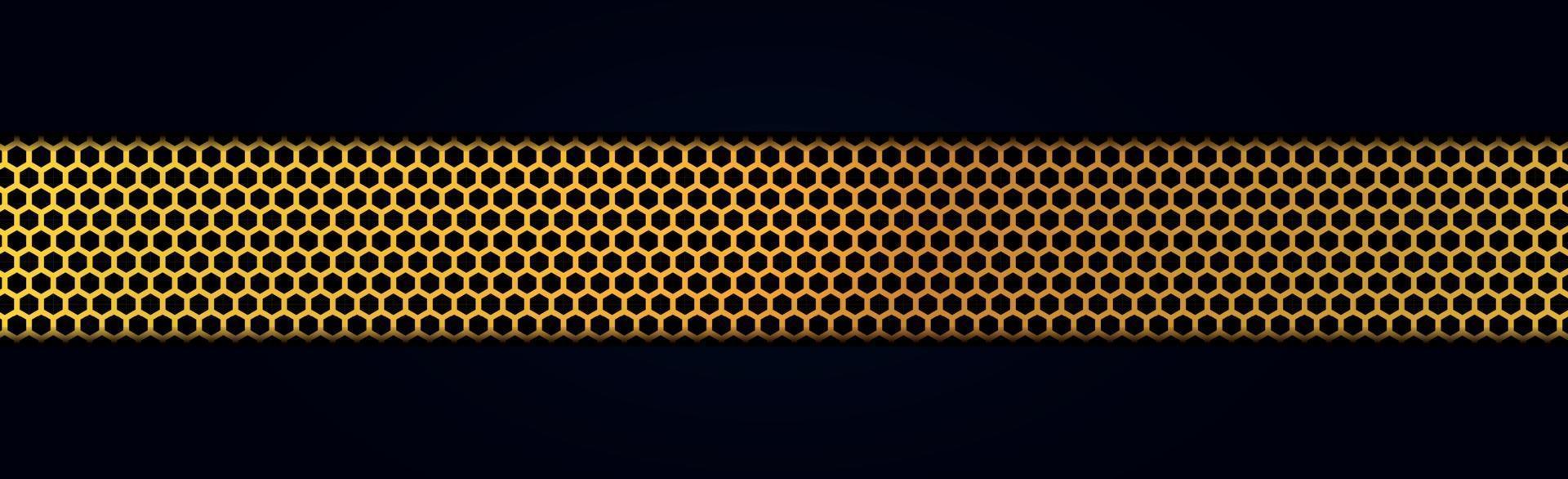 striscione in metallo dorato perforato vettore