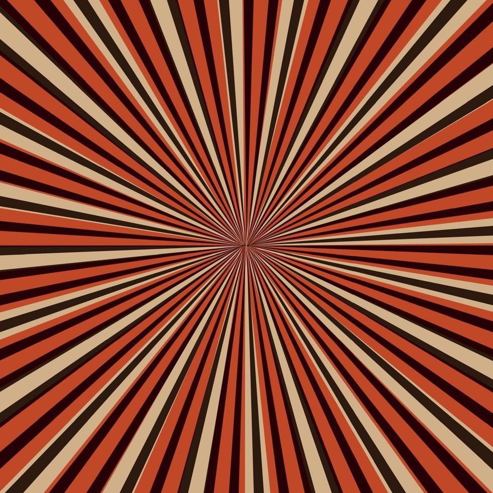 immagine astratta, i raggi del sole su uno sfondo rosso vettore