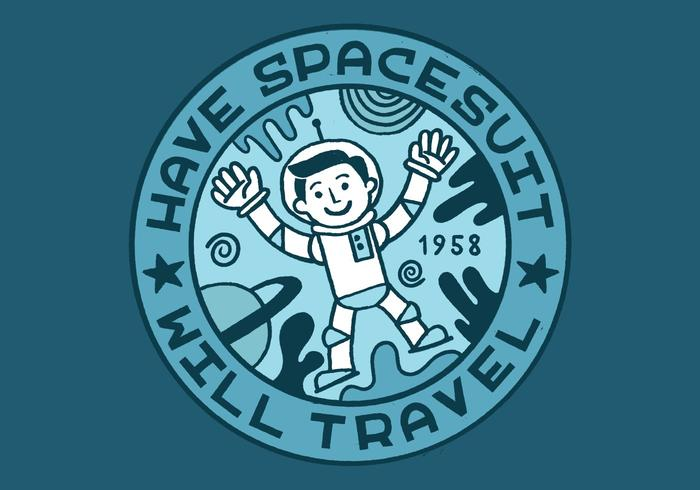 Distintivo di merito dell'uomo di spazio vettore