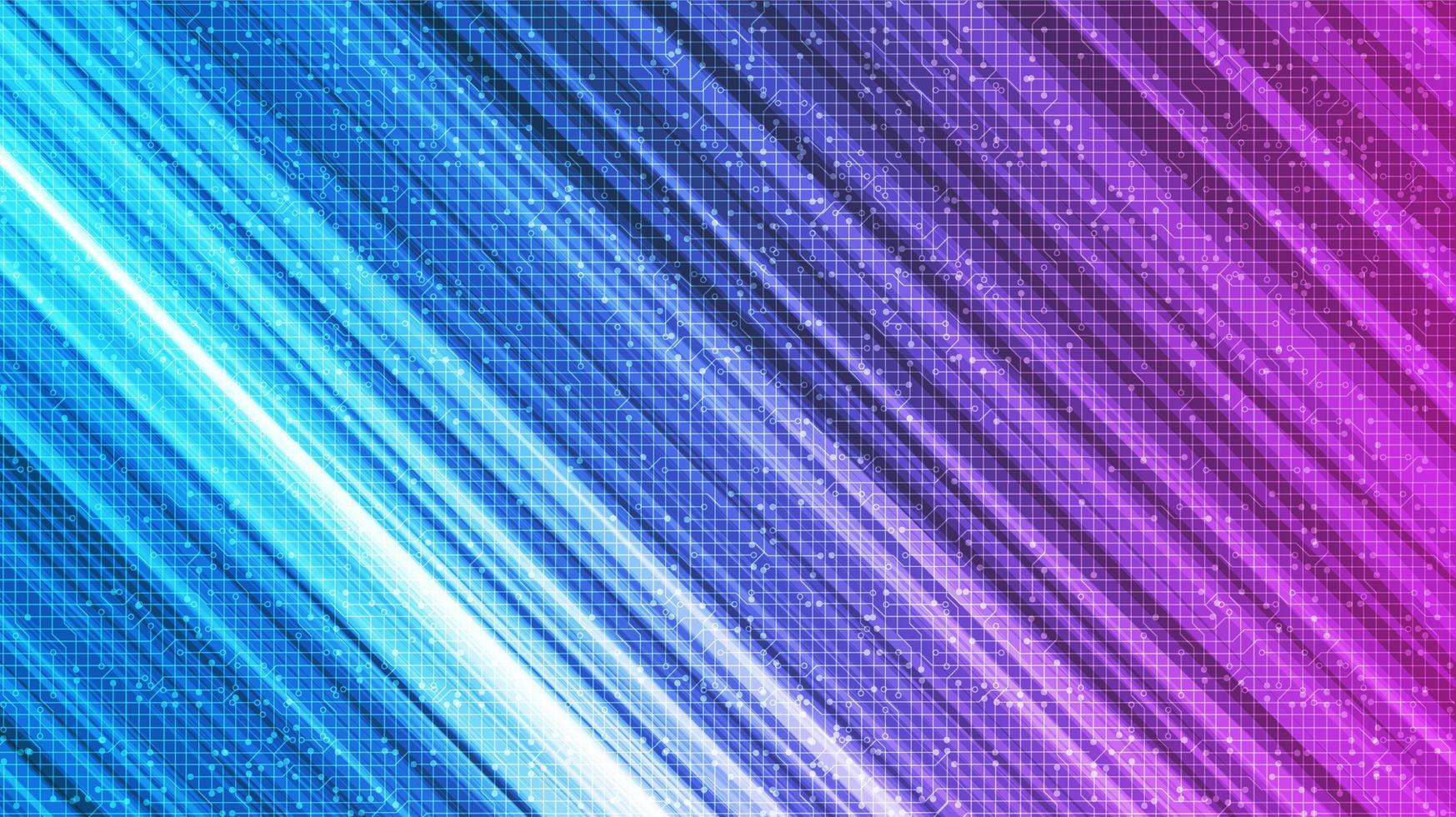 sfondo di tecnologia della luce di velocità, design digitale e comunicazione hi-tech vettore