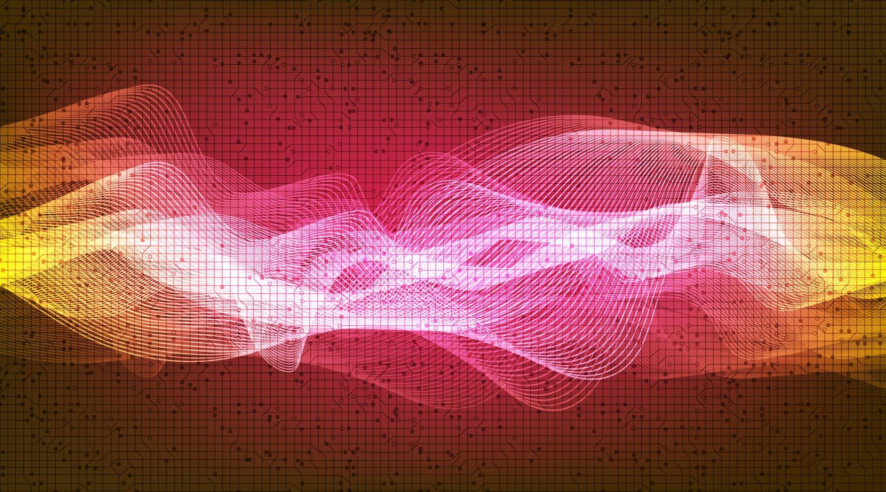onda sonora digitale leggera e concetto di onde di terremoto, design per studio musicale e scienza vettore