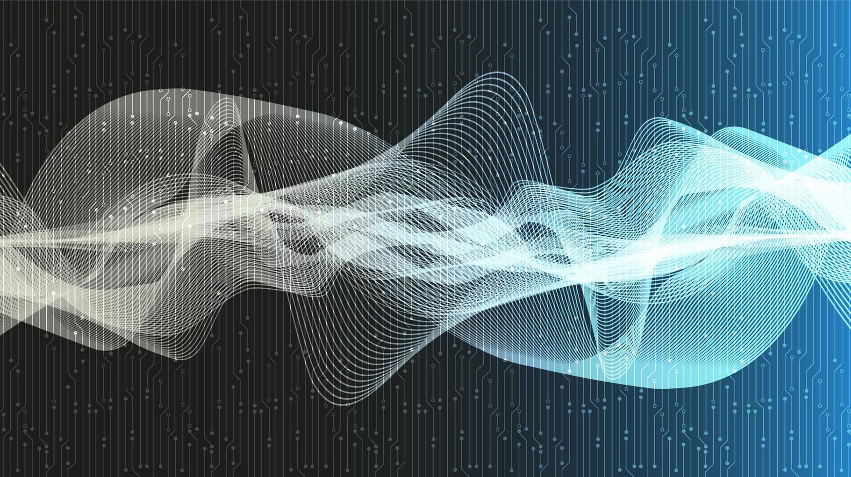 sfondo dell'onda sonora digitale equalizzatore vettore