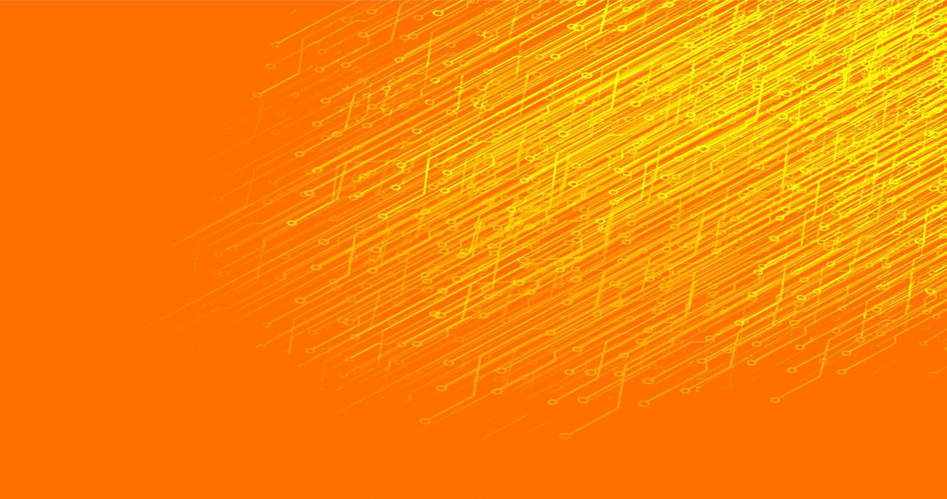sfondo tecnologia microchip circuito arancione vettore