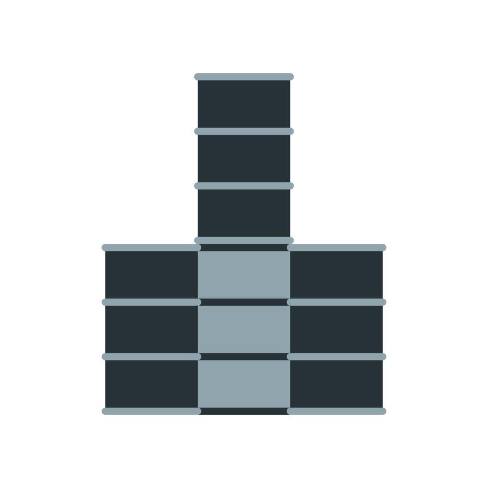 icona di barili di petrolio. elemento del set dedicato alla produzione, lavorazione e trasporto di petrolio e gas. vettore