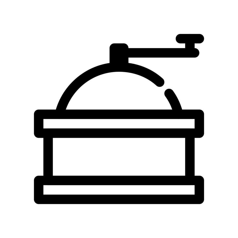 icona di contorno di macinacaffè vettore