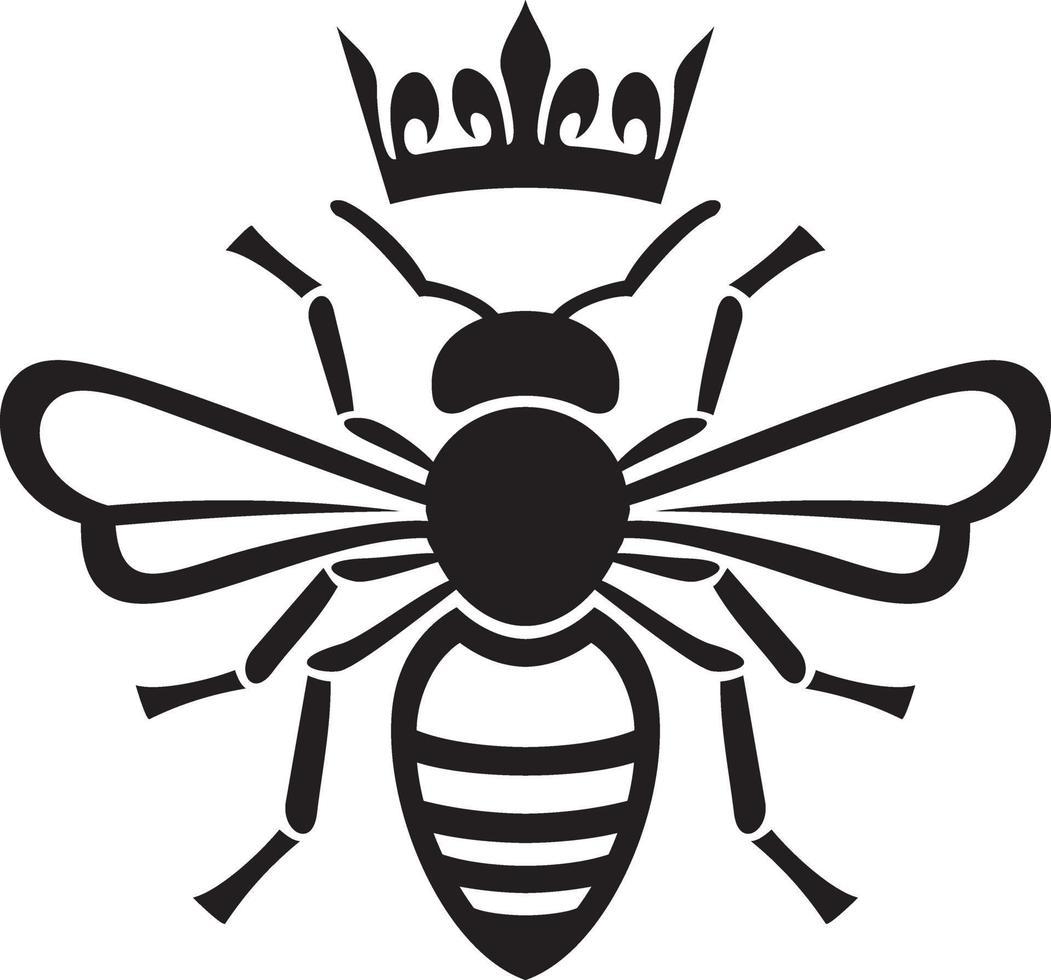 regina delle api con corona vettore