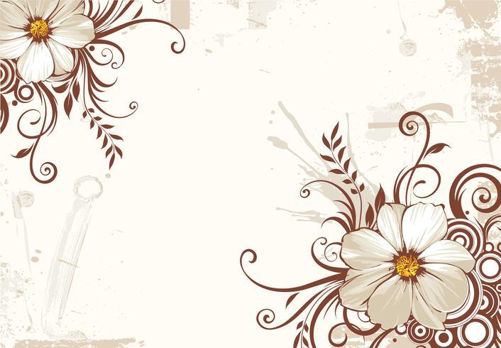 Sfondo di fiori vettore