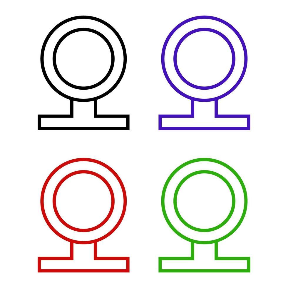 icona della web cam su sfondo bianco vettore