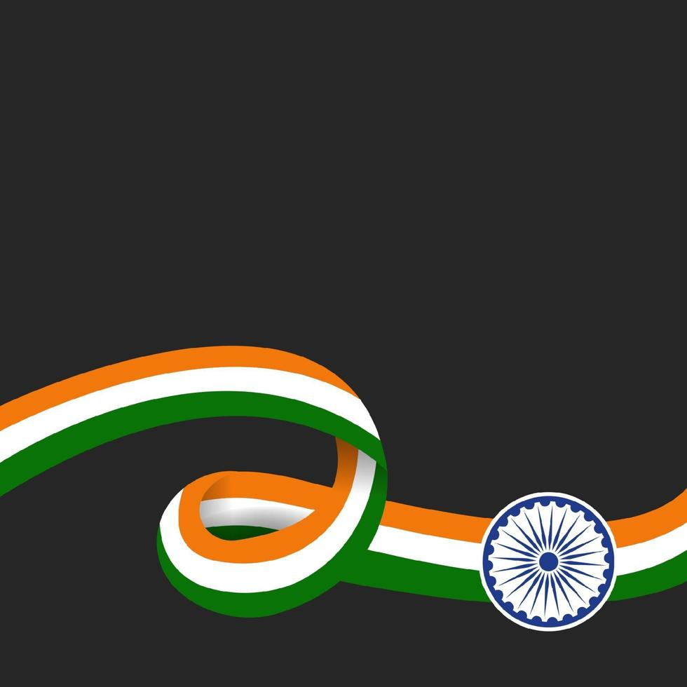 illustrazione della felice festa della repubblica indiana vettore
