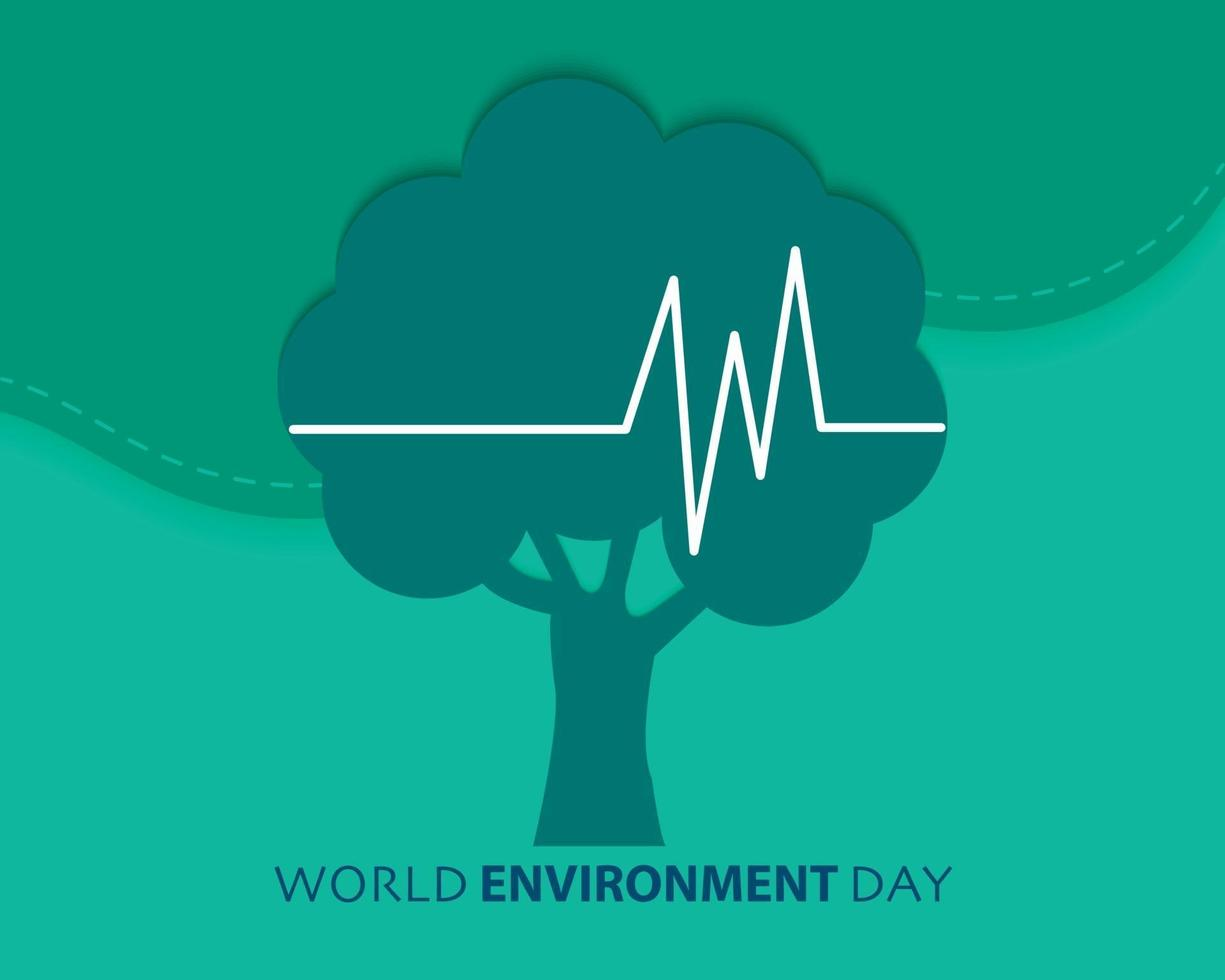 vettore di giornata mondiale dell'ambiente piatto