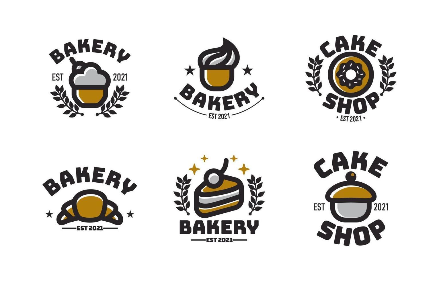 concetto di logo torta vintage vettore