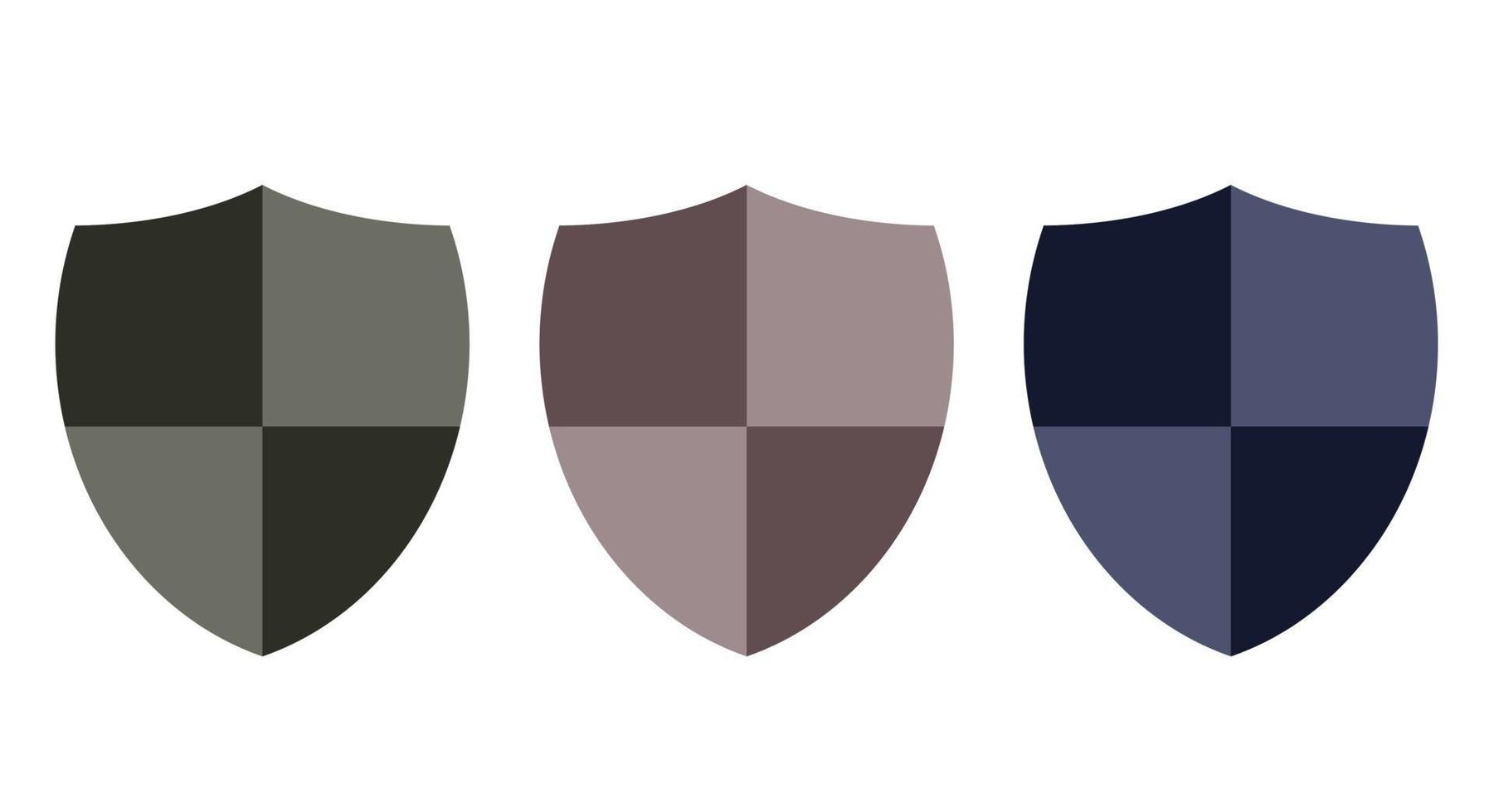 elegante scudo controlla set di icone di disegno vettoriale