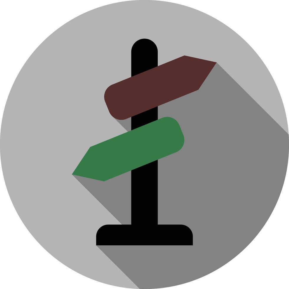 direzione cartello stradale lunga ombra icona vettoriali gratis