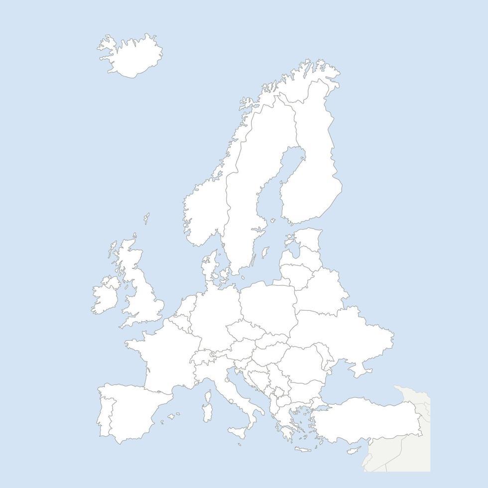 Europa-paesi mappa vettoriali gratis