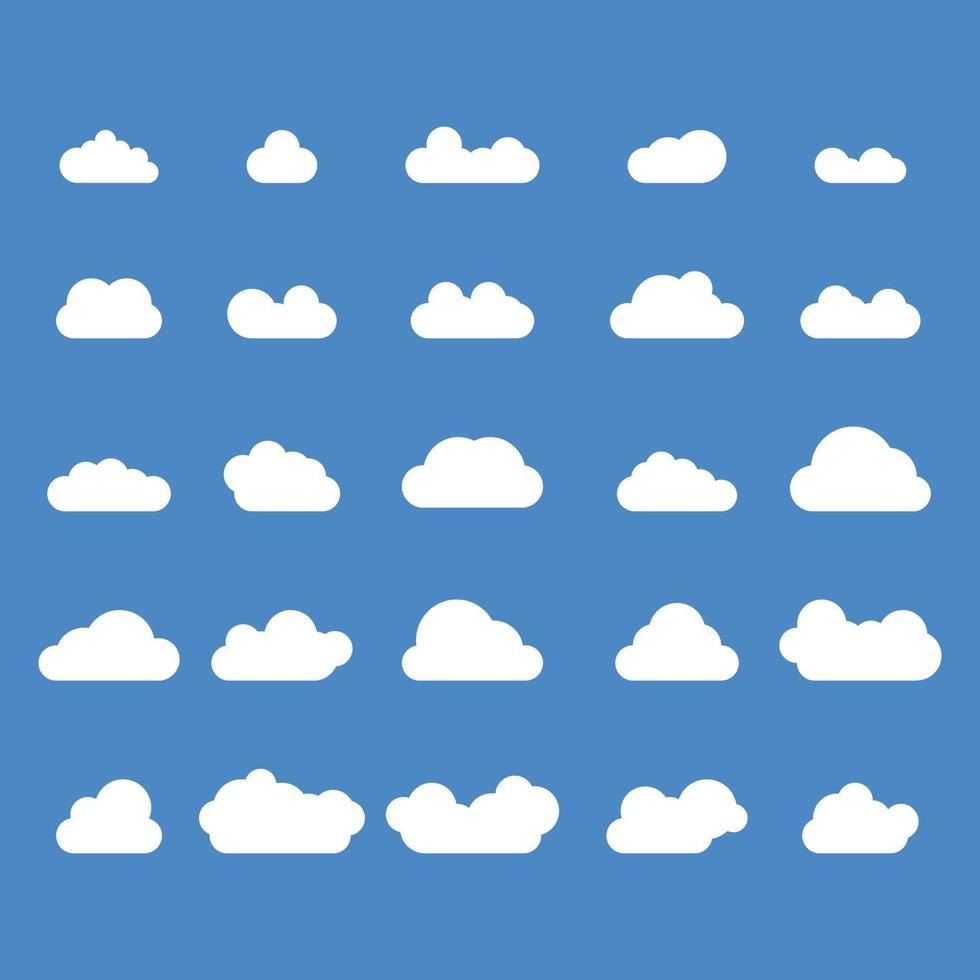 nuvole impostano pacchetti di vettori gratuiti, tempesta blu e bianca, icone meteorologiche