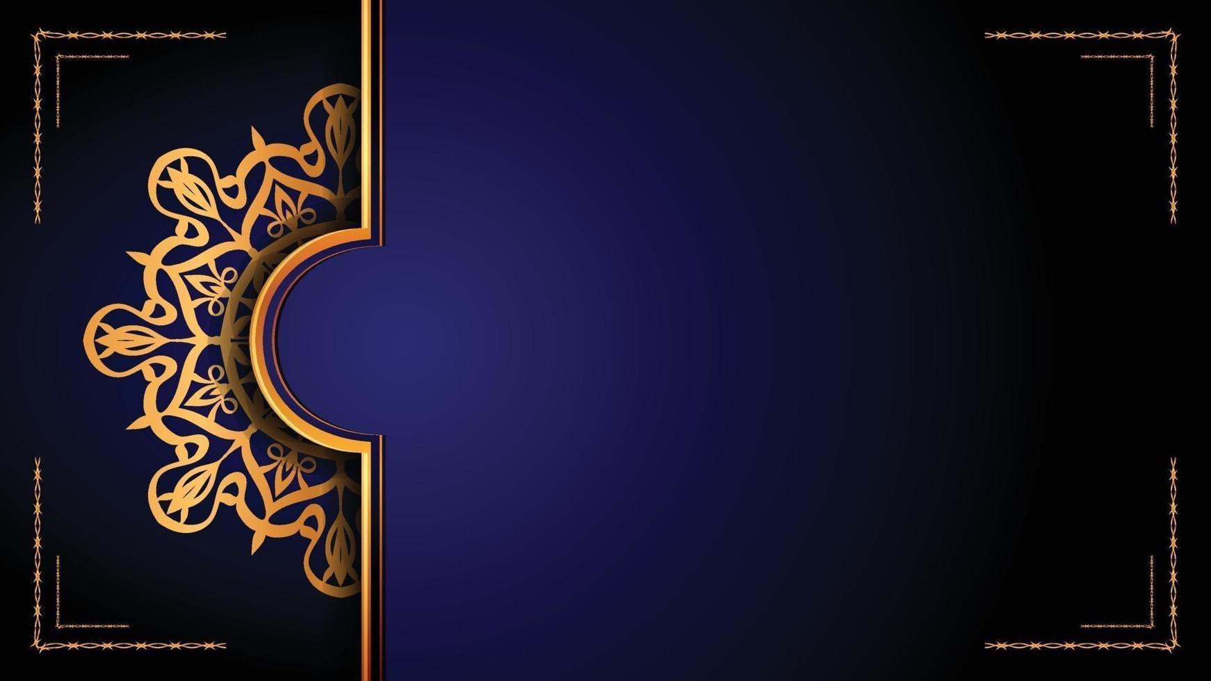 design di sfondo ornamentale mandala di lusso con stile arabesco dorato. ornamento decorativo mandala per stampa, brochure, banner, copertina, poster, carta di invito. vettore