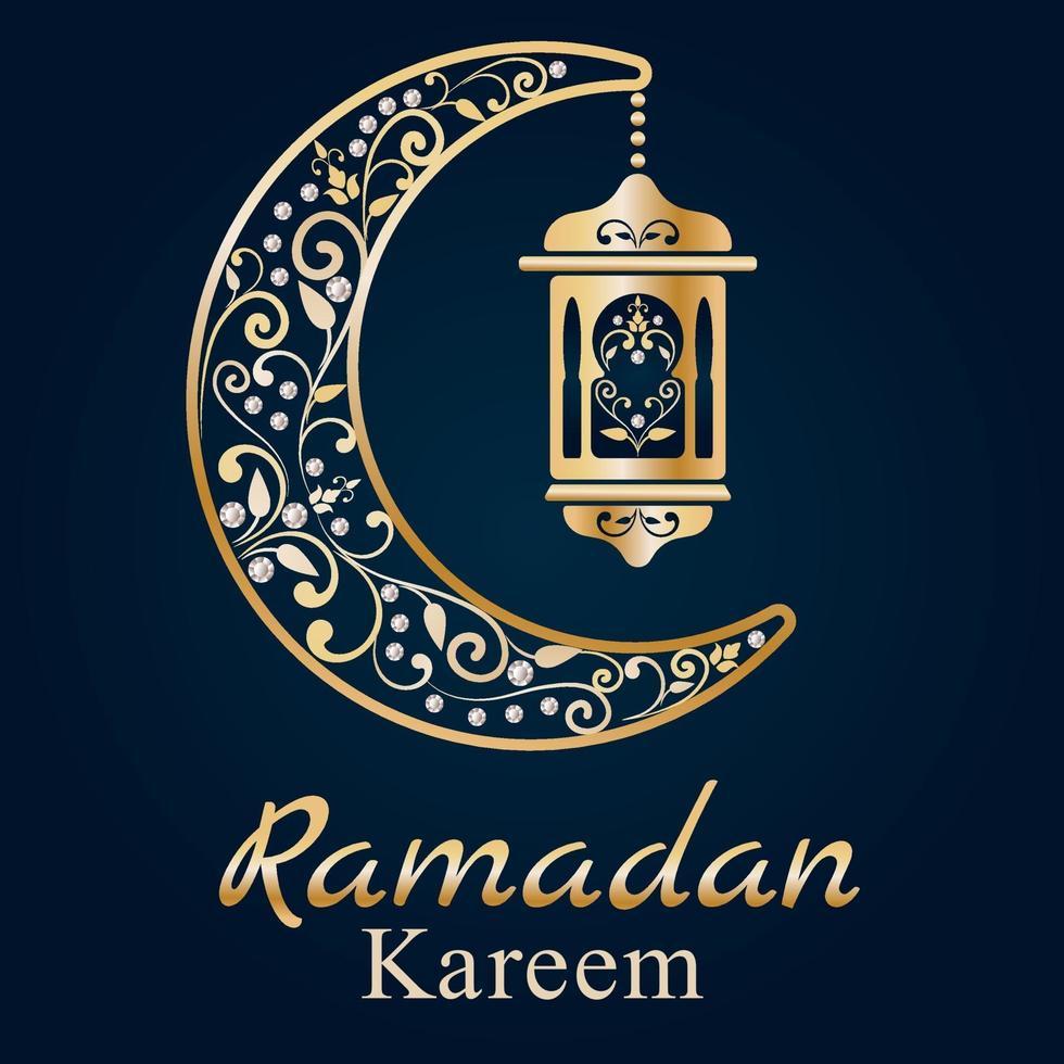 biglietto di auguri di Ramadan. Kareem Ramadan. illustrazione vettoriale