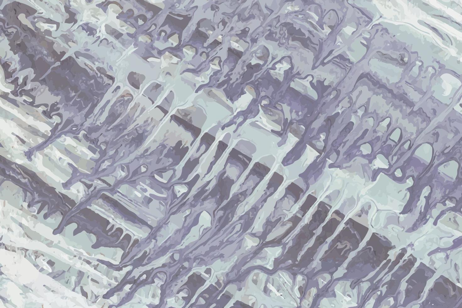 sfondo dipinto acrilico astratto blu e viola vettore