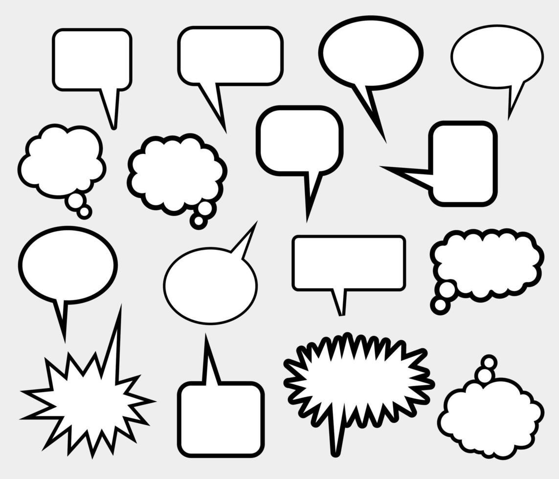 fumetto comico chiama bolle di discorso vettore